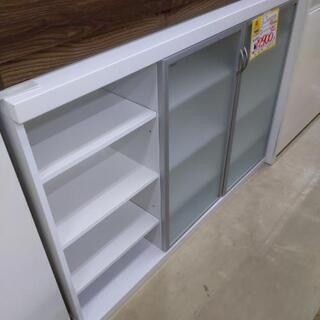 0428-09 キッチンカウンター 食器棚 120×53×…