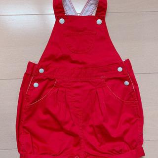 プチバトー サロペット 赤 70〜80cm