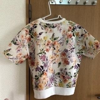 花柄 半袖トレーナー スウェット - 服/ファッション