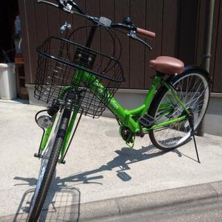 再投稿♪新車未走行!折り畳み式26インチ自転車♪