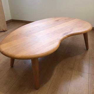 【美品】アルダー材のリビングテーブル