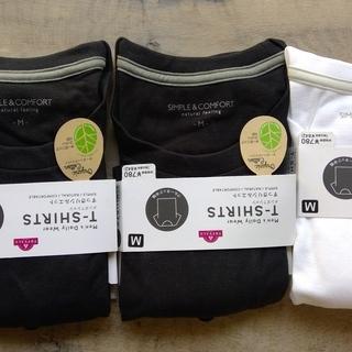 【新品未使用】メンズ オーガニックコットンTシャツ Mサイズ 3...