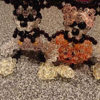 Mickey & Minnie のビーズ人形