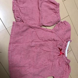 【値下げ】女の子 夏物 パジャマ 上下セット 90
