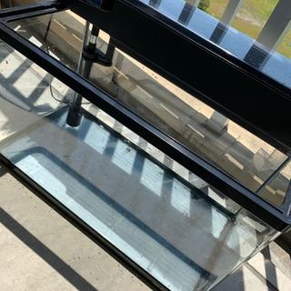 NISSO60cm規格コーナー曲げガラス水槽セット