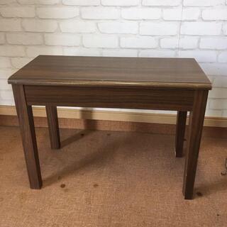 木目中古ピアノ椅子(座面66×32)高さ調節無し