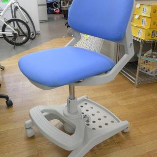コイズミ 学習椅子 ハイブリッドチェア 水色 昇降式 イス チェ...