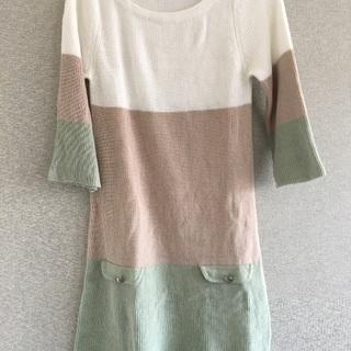 七分袖ワンピース