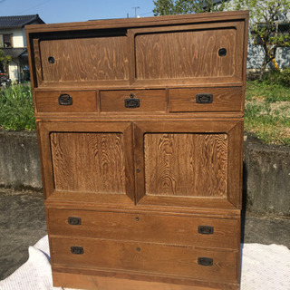木製、アンティーク家具 箪笥