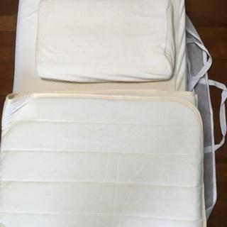 【新品未使用】低反発 シングルマット 枕 敷きパッド 収納袋 セット