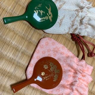 小さな手鏡 朱 - 京都市
