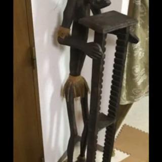 バリ島 CDラック 原人 木製