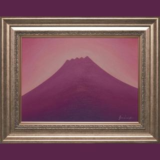 私が描いた油絵です。●ラベンダーの富士山●がんどうあつし直筆絵画...