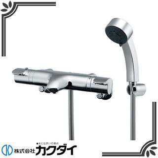 新品】カクダイ サーモスタットシャワー混合栓 173-214