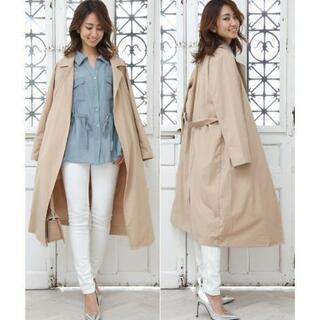 美品★TEANY とろみ落ち感 羽織りトレンチ 軽量ロングコート