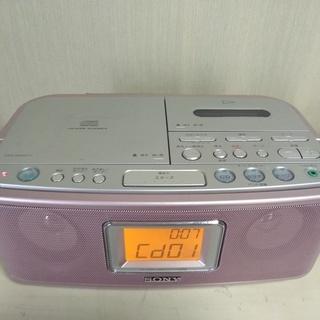 ソニー製 CDラジカセ CFD-E500TV ピンク