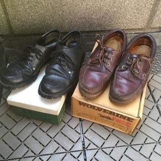 メンズ革靴 二足 vibramブラック Timberland ブ...