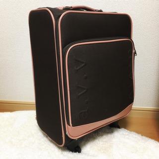 美品♡おしゃれなスーツケース 茶×ピンク