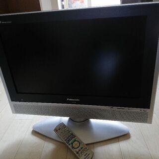 引取り限定&日本製パナソニック22型TV 美品、傷汚れる無し