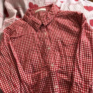 ショコラフィネローブ チェックシャツ