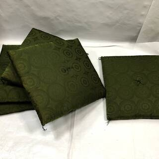 美品!ふかふか 高級座布団 5枚組セット グリーン系 55×59...