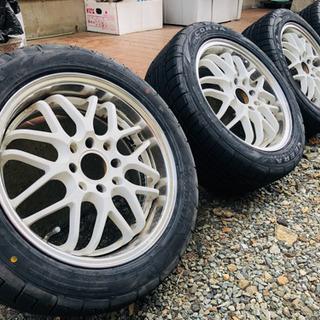 レーシングスパルコ ホイールタイヤ4本セット(タイヤはほぼ新品で...