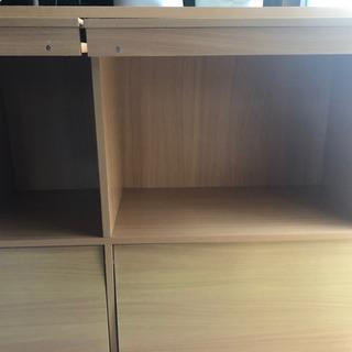 ブックシェルフ付き収納棚 GW中限定〜5/6 - 家具