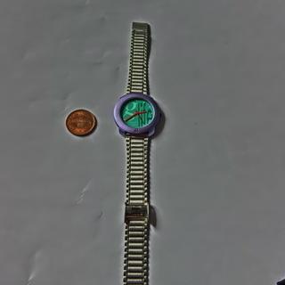 ★ブランドBENETTON★ベネトン腕時計稼働中グリーンと紫金属...
