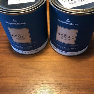 ベンジャミンムーア ペンキ2缶