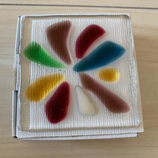 ガラスのコースター・カトラリーレスト2枚セット