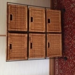 藤の収納(2列✖️3段)6籠