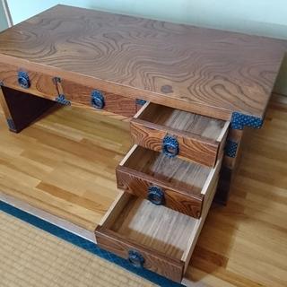 中古・アンティーク 鉄飾り付き文机 - 家具