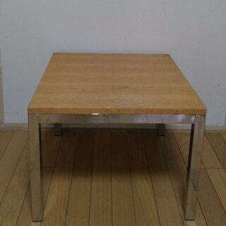 (木製天板&アイアン脚)正方形のセンターテーブル