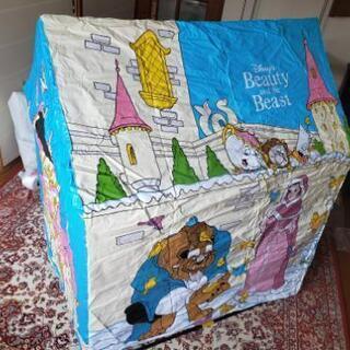 子供用 テント ビニールハウス 美女と野獣 ディズニー