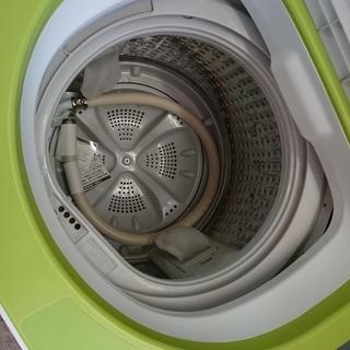 お買い得!!4点セット!!ハイアール JR-91J 2ドア冷凍冷蔵庫91L 2014年製・ハイアールJW-K33F全自動洗濯機3.3K 2013年製・シャープ RE-CE80KB 電子レンジ2011年製・山善 YTA-860 オーブントースター 2018年製 - 家電