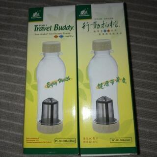1点 クリアボトル 水筒 600ml   茶越し付き 給水
