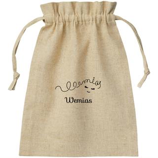Wemias オリジナル コットンリネン巾着 (W22×H…