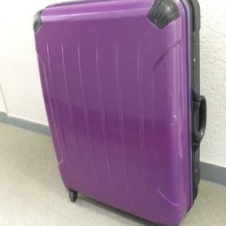 紫色 スーツケース やや大きめの預け荷物サイズ