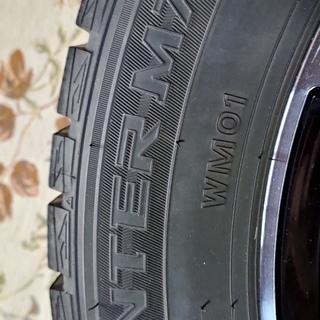 A-TECH シュナイダー DR-01 15X5.5J  4穴  PCD100 インセット40 ダンロップウインターマックス01 4本セット DJ系デミオ - 車のパーツ
