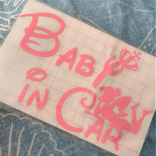 BAB in CAR 車のシール♡pink❣️