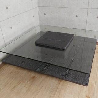 K10*61 アルモニア ガラステーブル センターテーブル 正方形