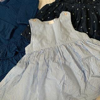女の子子供服ワンピース70  3枚セット