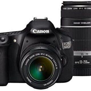 【箱入り美品】Canon EOS60D ダブルズームキット プラ...