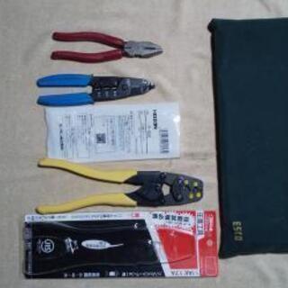 電気工事士技能試験必携   圧着ペンチ、ワイヤーストリッパー、 ...
