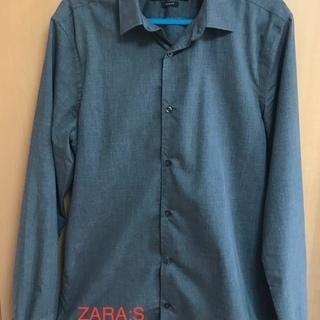 ZARA/S(SLIM FIT)/グレイシャツ