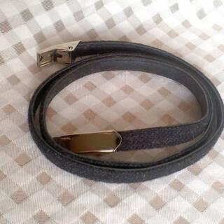 長さ約 76.5cm 幅約 1cm 黒 ブラック ベルト