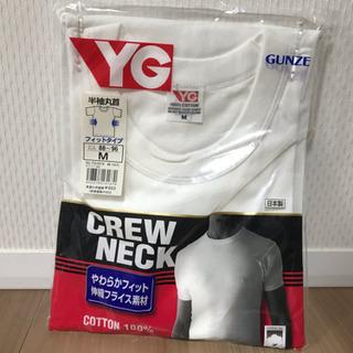 【新品】メンズ 半袖丸首 白 Tシャツ Mサイズ