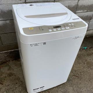 No.d210 2019年製SHARP全自動洗濯機5.5キロ