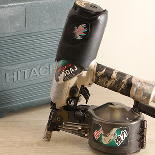 HITACHI 日立工機 ロール釘打機 NV50AJ エアー工具...