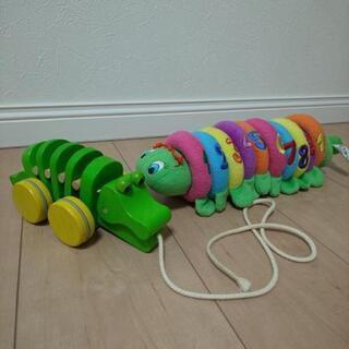 可愛い青虫とワニの知育玩具セットの画像